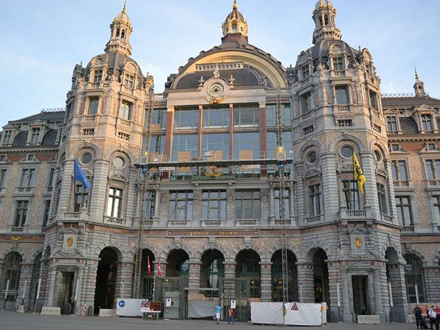 Антверпен: вокзал Центральный
